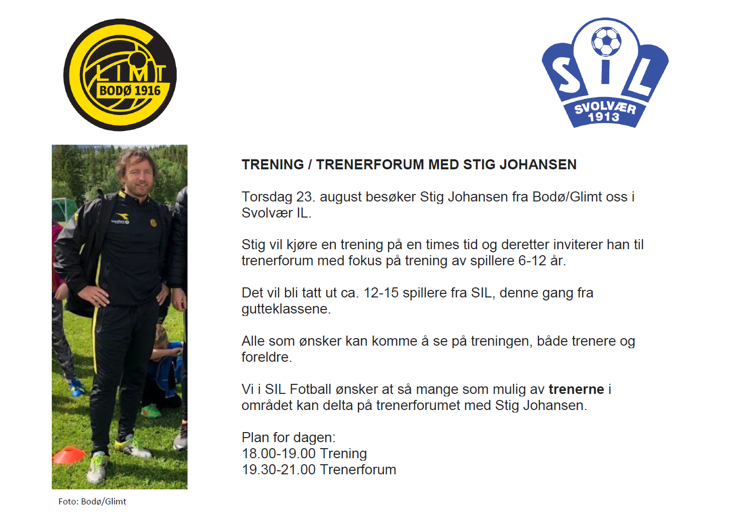 Trenerforum - Stig Johansen 23.08.3028